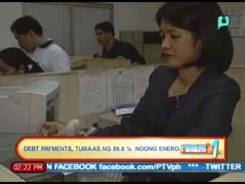 News@1: Debt payments, tumaas ng 86.6% noong Enero || April 10, 2014