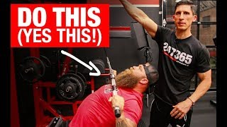 """Get a """"MONSTER"""" Bench Press (3 MOVES!)"""