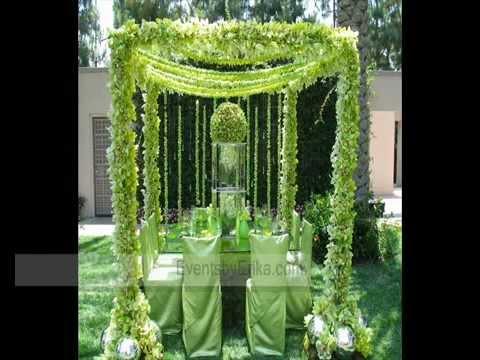 ديكورات حفل الزفاف من الورود