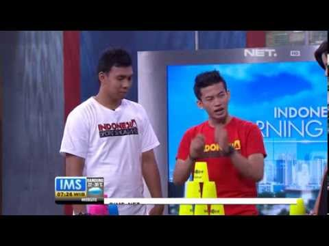 Indonesia Sport Stacking ( @IDSportStacking ) at Indonesia Morning Show NET TV