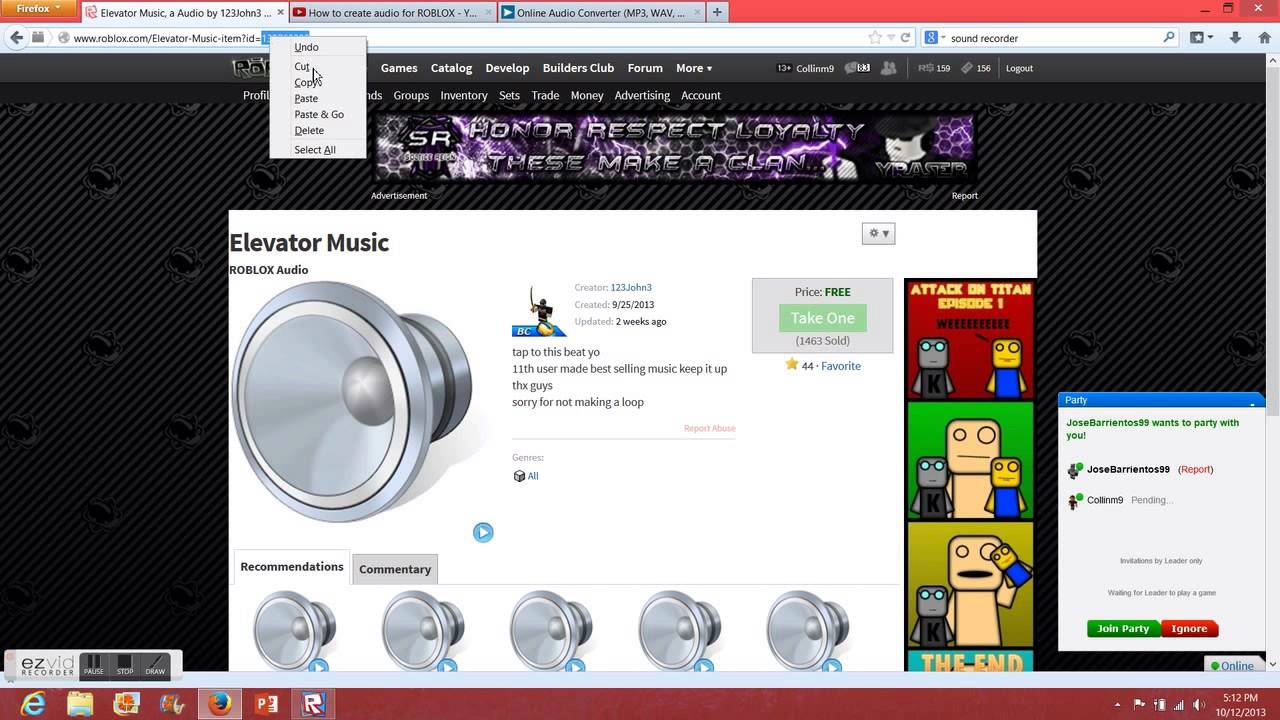 roblox how to find asset id