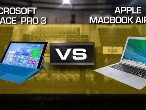"Microsoft Surface Pro 3 vs. MacBook Air 13"" 2014"