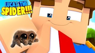 Minecraft LITTLE DONNY CAPTURED LUCAS THE SPIDER & KEPT HIM AS A PET!! (Minecraft Roleplay)