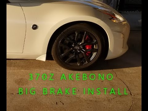 370Z AKEBONO BRAKES 2015 BASE MODEL 18