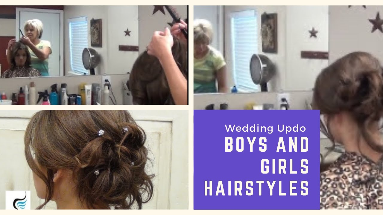 Hair Style Youtupe : Soft Curled Updo for Long Hair Prom or Wedding Hairstyle - YouTube