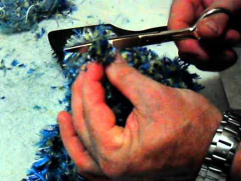 Tapete de hilos de seda Pompon (8/9)Hacer los Pompones. Fin tapete