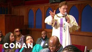 Conan Joins a Southern Baptist Choir