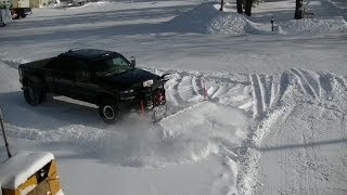 Snow Plowing 02 Chevy Silverado Dually Western Pro Plow