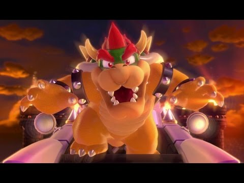 Super Mario 3D World - All Bowser Boss Fights (2 Player)