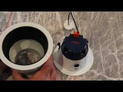 "Can Light Trim >> How to install Sylvania RT4 LED retrofit in Lightolier 5"" recessed cans - Jeff Weissman Electric ..."