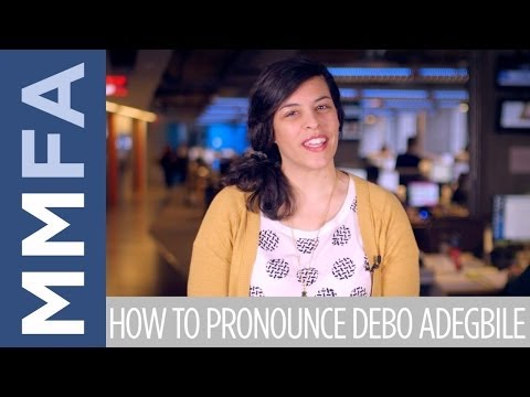 How To Pronounce Debo Adegbile