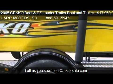 2005 Gekko Boat And Ez Loader Trailer Boat And Trailer
