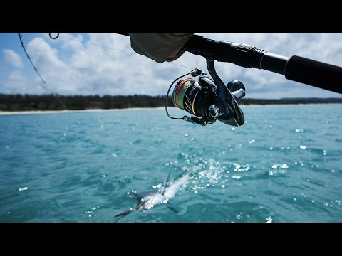 Scotty Mitchell showing the shimano team his backyard