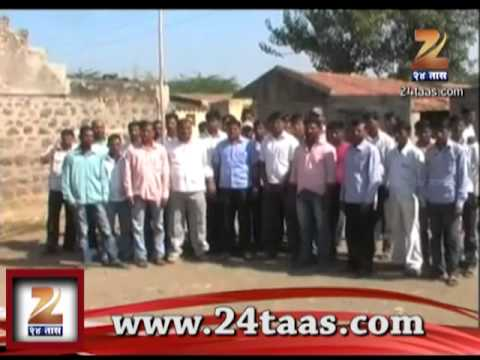Zee24Taas: agitation in baramati on sharad pawar birthday