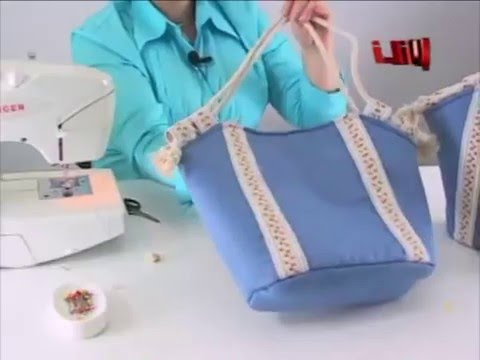 DIY - Bolso en Tela By María Fernanda (A2/2)( Hand made Tote / Bags / Purses / Handbags / Wallet )