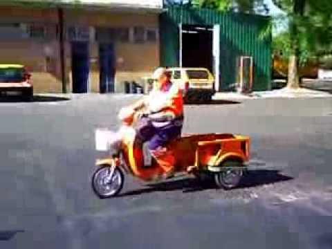 Triciclo electrico para limpieza viara