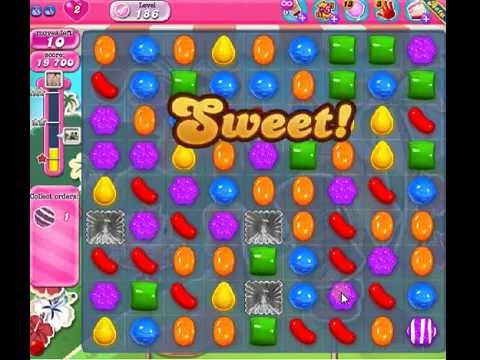 How to beat Candy Crush Saga Level 186 - 2 Stars - No Boosters - 53