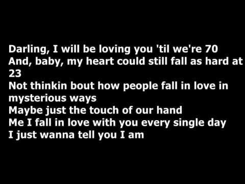 William Singe - Thinking Out Loud (Lyrics)