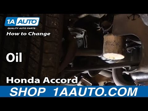 Auto Repair: Change Oil in Most Cars Subject Car Honda Accord - 1AAuto.com