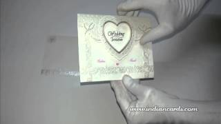 [C-0770, Ivory Paper, Designer Hindu Wedding Invitations] Video