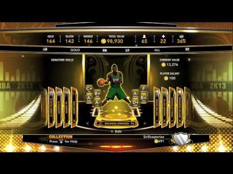 NBA 2K13:- MyTeam- Milwaukee Bucks/Detroit Piston Gold Current Day Player!!!