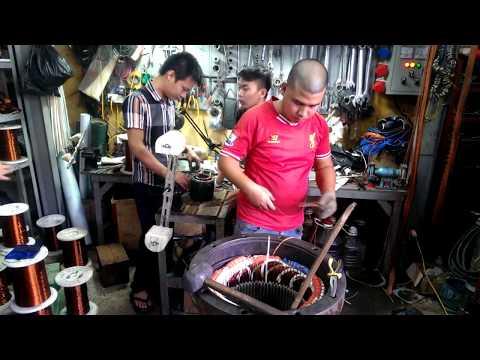 QUẤN VÀ SỬA CHỮA MOTOR BƠM CHÌM NƯỚC THẢI 150HP - CÁCH ĐAI DÂY - Part 3 - Http://suamaybomnuoc.vn