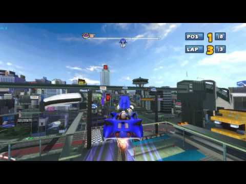 Sonic & Sega All-Stars Racing on Dolphin Wii/GC Emulator (1080p HD) Full Speed