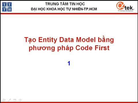 Tạo Entity data model bằng phương pháp CodeFirst1