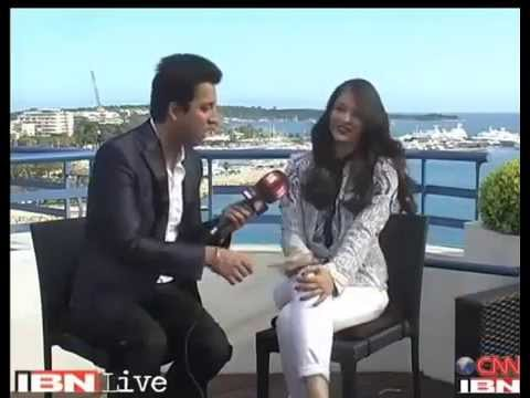 Interview of Aishwarya Rai at Cannes 2014 Bachchan  with IBNLive