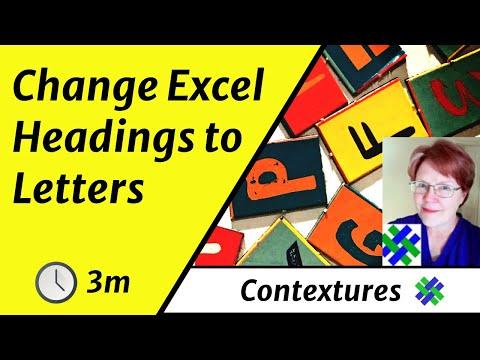 Excel Column Headings Letters Instead Numbers