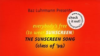 Everybody's Free To Wear SUNSCREEN! (ORIGINAL) + English