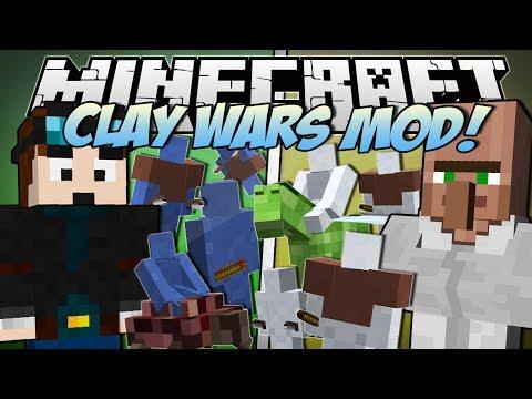 Minecraft   CLAY WARS MOD! (Trayaurus vs TDM!)   Mod Showcase