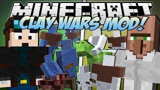 Minecraft | CLAY WARS MOD! (Trayaurus vs TDM!) | Mod Showcase
