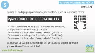 Liberar Nokia X3, Desbloquear Nokia X3