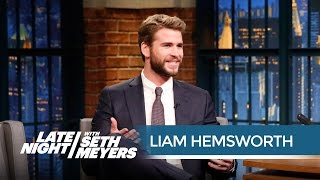 """Liam Hemsworth: Jennifer Lawrence Is """"Terrible at Walking"""" - Late Night with Seth Meyers"""