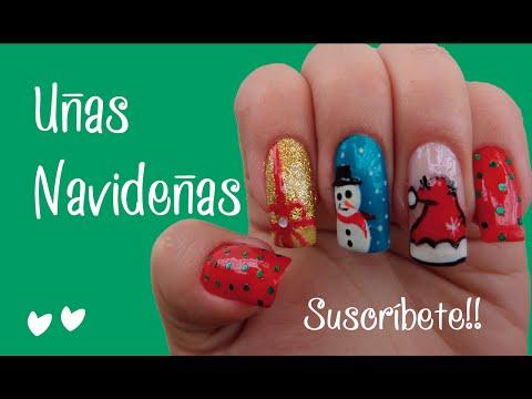 Cómo decorar uñas para Navidad - Naila Londoño