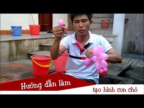 Hướng dẫn làm bóng bay nghệ thuật cho thiếu nhi - Hình con chó | Balloon Twisting