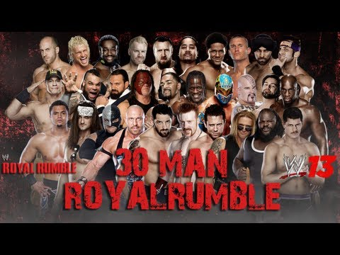 WWE '13 Royal Rumble 2013 Simulation: 30 Man Royal Rumble