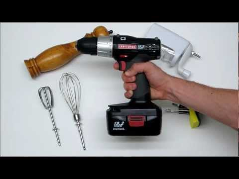 Cooking with Power Tools: Cordless Drill applications