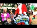 Santa Surprises Kids w/ Skylanders Swap Force Jolly Bumble Blast Christmas Variant