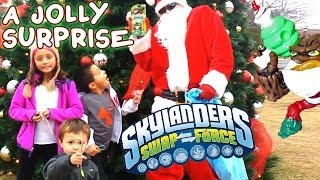Santa Surprises Kids W/ Skylanders Swap Force Jolly Bumble