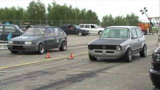 VW Golf 1 VR6 Turbo 4 Motion Vs. VW Polo R32 Bi-Turbo VW