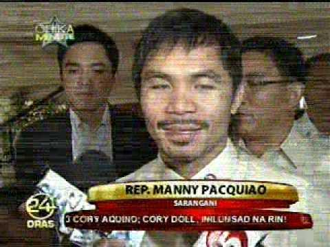 Congressman MANNY PACQUIAO's Reaction on KRISTA RANILLO Wedding - July 29, 2010