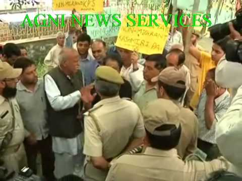 SRINAGAR .. KASHMIR PANDITS PROTEST FOR SPECIAL PACKAGE.
