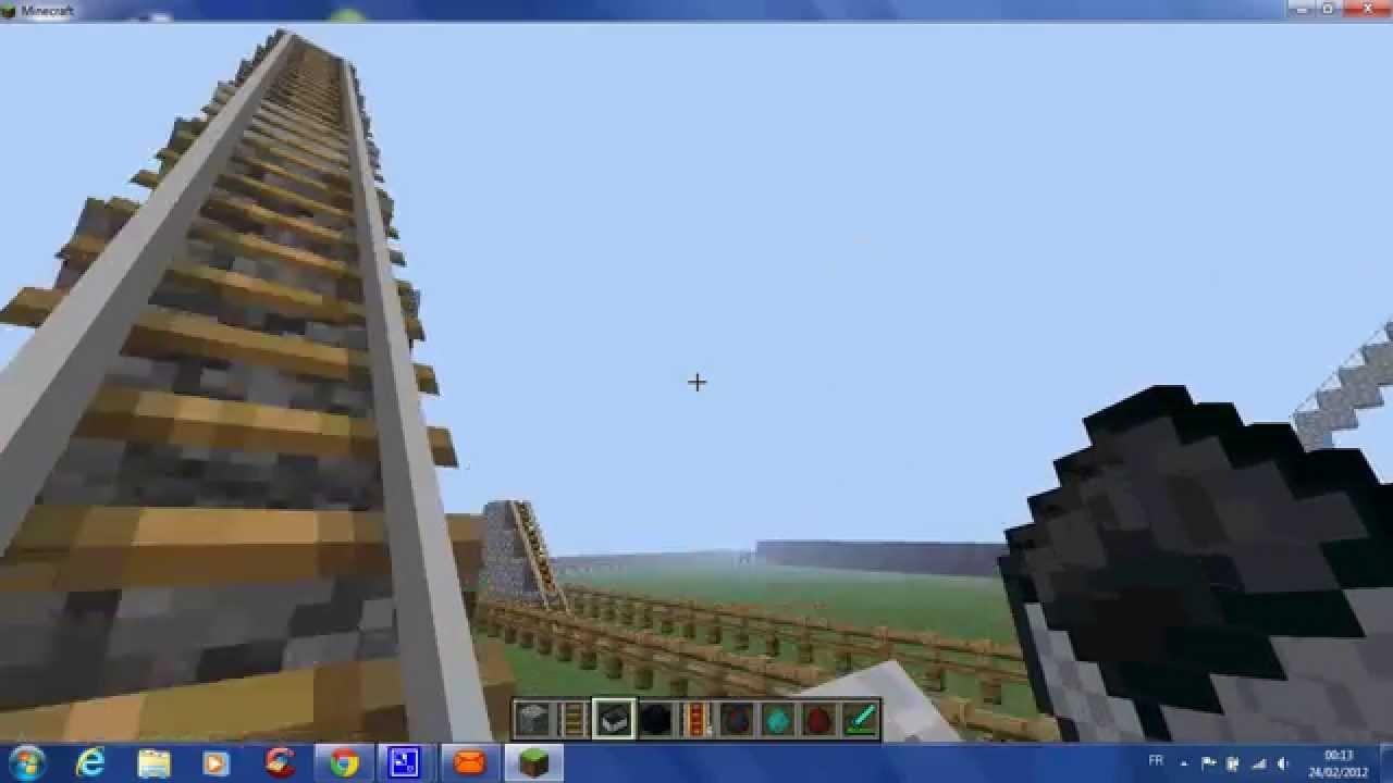 Minecraft construction d 39 une montagne russe youtube - Minecraft construction de fou ...