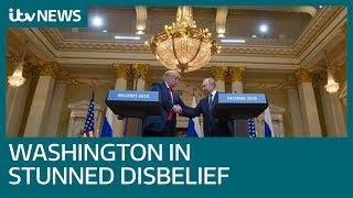 US anger as Trump sides with Putin over FBI on Russia 'meddling' | ITV News