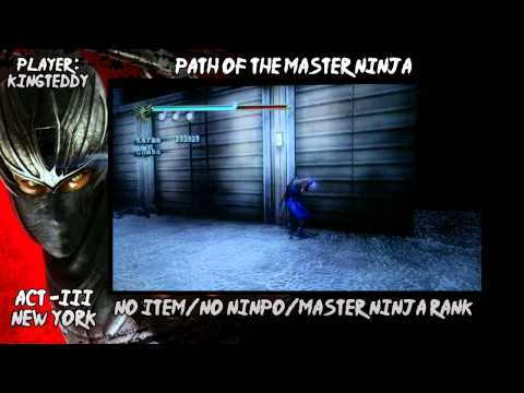 Ninja Gaiden Sigma 2 : Master Ninja Run : Act 3