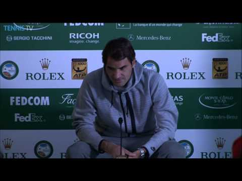 Monte-Carlo 2014 Final: Federer Talks About Loss To Wawrinka
