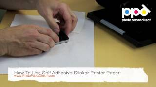 How To Use Self Adhesive Sticker Printer Paper