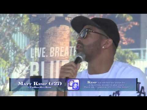 Dodgers FanFest 2014 - Matt Kemp talks Return